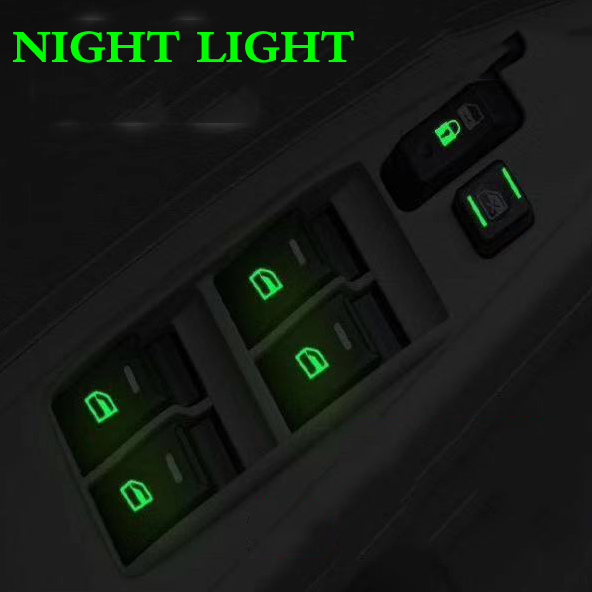 Car Sticker Car Window Switch Luminous Sticker For Honda BMW Audi Mazda Mitsubishi Hyundai Nissan Kia Toyota VW Car Styling
