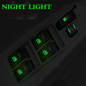 Car sticker Car window switch Luminous sticker For Honda BMW audi Mazda mitsubishi Hyundai Nissan Kia Toyota VW car Styling car styling racing sticker body waist car stickers door side scratches decorative decals for ford vw bmw toyota audi honda mazda