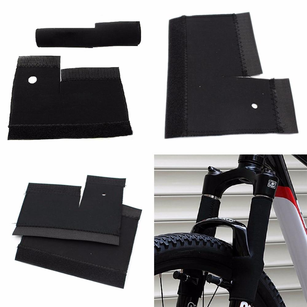 1 paire de protecteur de chaîne de cadre de vélo vtt, fourche avant de vélo, protection coussinet de protection, ensemble de couverture, accessoires de vélo