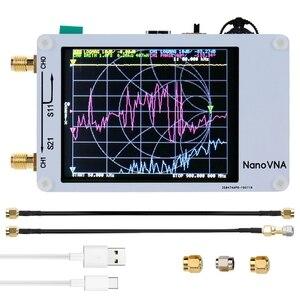 Analizator sieci wektorowej Nano VNA ekran naciskowy 50KHz-900MHz cyfrowa krótkofalówka MF HF VHF antena UHF analizator z kabel RF