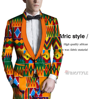 цена Africa Men's clothes Fashion Men African Style Print Men Suit Jackets Festive Blazers Customized African Man's Blazers wyn1132 онлайн в 2017 году