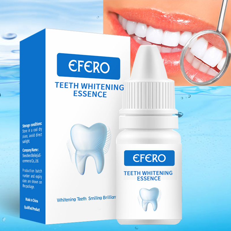 EFERO Teeth Whitening Essence Powder Oral Hygiene White Teeth Whitener Serum Removes Plaque Stains Tooth Bleaching Dental Tools
