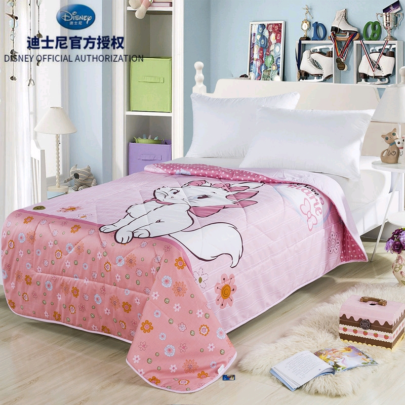 Disney Marie Cat Sweet Girl Summer  Air Condition Blanket Comforter Bed Cover for  Home Decoration Girls  Gift