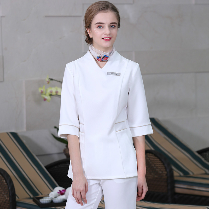 Beautician Work Clothes Beauty Guide Clothing SPA Technician Clothing New Autumn And Winter Beauty Salon Work Clothes
