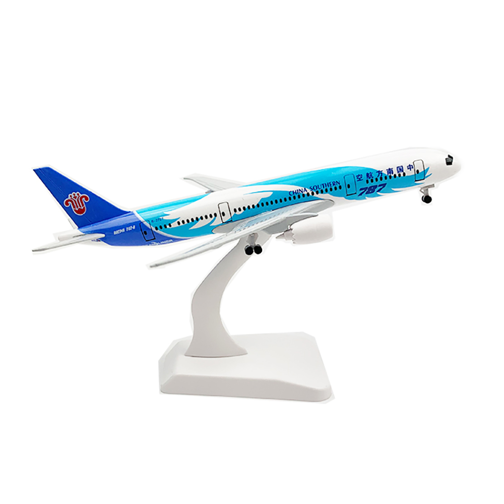 20cm Aircraft China Southern Airlines Boeing 787 With Landing Gear B787 Alloy Plane Model Toys Children Kids Gift For Collection