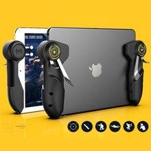 Mobiele Pubg Game Controller Voor Ipad Tablet Zes Vinger Game Joystick Handvat Doel Knop L1R1 Shooter Gamepad Trigger