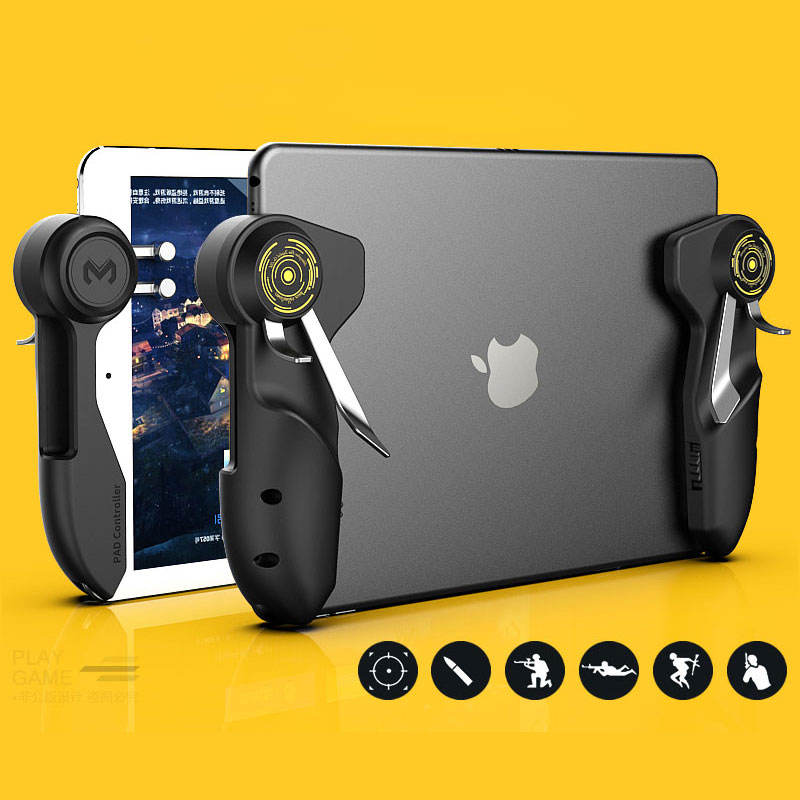Mobile PUBG Game Controller For Ipad Tablet Six Finger Game Joystick Handle Aim Button L1R1 Shooter Gamepad Trigger(China)