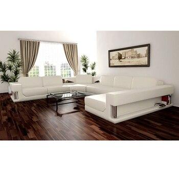 Living Room Sofa set corner sofa couch genuine leather sectional sofas L shape unique design muebles de sala moveis para casa