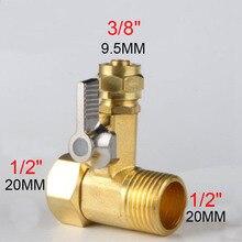 """1/"""" до 3/8"""" латунный водопроводный кран RO мяч для кормления кран фильтр для воды система обратного осмоса для водоочистителя кран"""