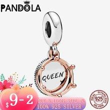 Бусины подвески «Королева и королева» из серебра 925 пробы для