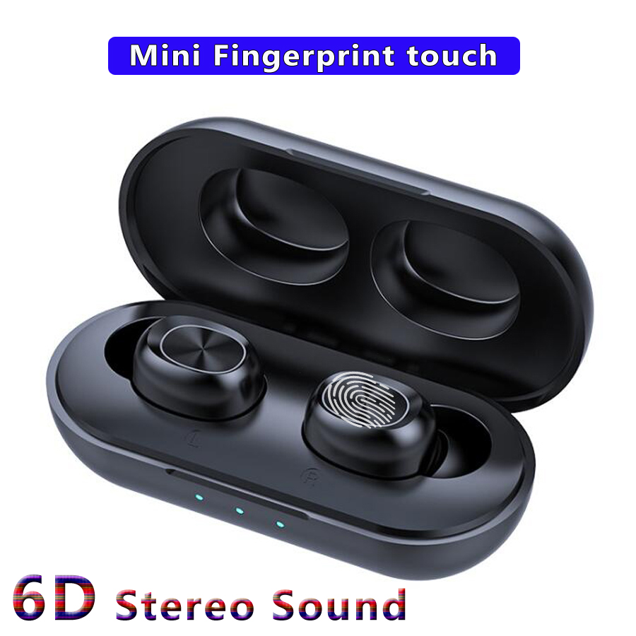B5 TWS 5.0 Bluetooth Wireless Earphone Touch Control 6D Stereo Earbuds Bass Handsfree Headset With Microphone Charging Box