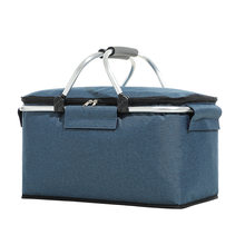 Foldable Picnic basket for Grocery,Laundry,Market,Oxford cloth Aluminum Frame Christmas gift