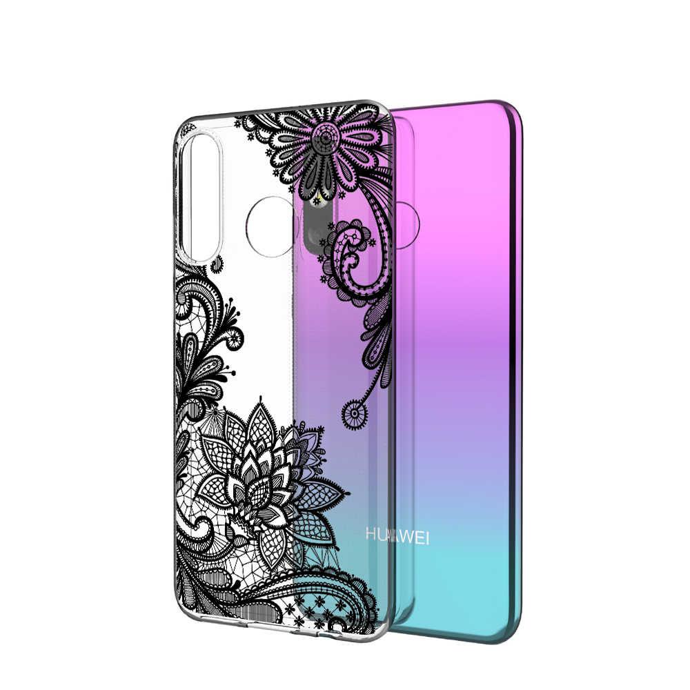 P20 Lite чехол для huawei P30 P20 mate 20 Pro P10 Lite прозрачный мягкий чехол для телефона Huawai Honor 8X силиконовый прозрачный чехол с цветами