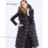 Long Fur Vest Winter Women Luxury Faux Fox Fur Vest Furry Slim Woman Fake Fur Vest Plus Size Faux Fur wj1342