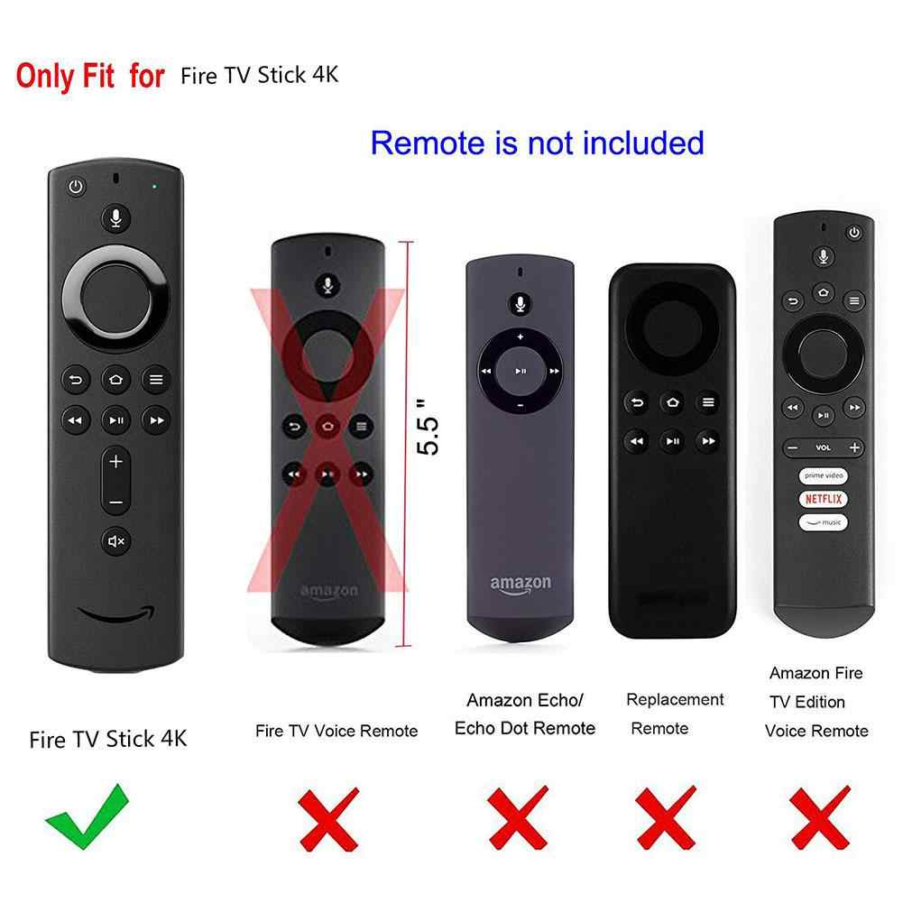 Protective Case 5.9 Inch Cover Soft Silicone Skin Sleeve Shockproof Anti-Slip For Amazon Fire TV Stick 4K Remote Control