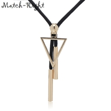 Match-Right Women Rope Chain Statement Sweater Necklaces amp Pendants with Triangle and Square Necklace For Women Jewelry SP083 cheap None Pendant Necklaces TRENDY Plastic GEOMETRIC Other 96cm Necklaces Pendant Vintage Necklace Trendy Necklace Necklaces Women