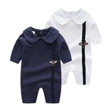 купить Newborn Baby Clothes Suit The Summer Climbing Clothing Bee pattern Baby Cotton Romper Gentleman Short Sleeve Jumpsuit Boy Cloth по цене 1081.83 рублей