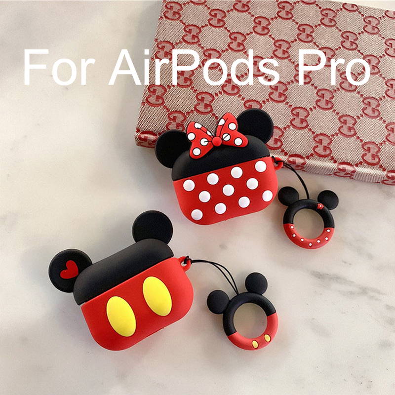 Cute Disney Wireless Earphone Case For Apple AirPods Pro Silicone Charging Headphones Case For Air Pods 3 Protective Cover