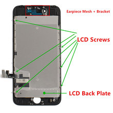 5PCS/Lot Replacement Screen For iPhone 7 LCD Display Digitizer Touch Assembly With Frame and Good 3D ,Black White