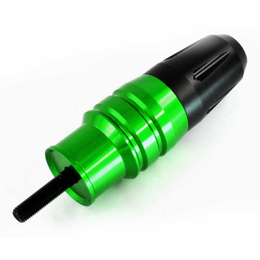 Bjmoto Motor CNC Aluminium Hitam Kecelakaan Bantalan Exhaust Slider Crash Protector untuk Kawasaki Z800 Z250 Z300 Z1000 Z900 Z650 Z750