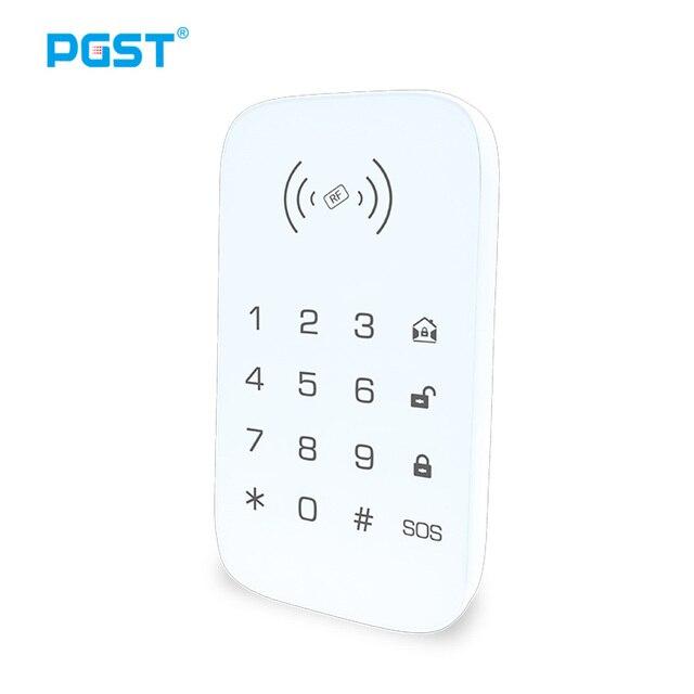 Teclado inalámbrico para sistema de seguridad de casa inteligente teclado de extensión para alarma de incendio antirrobo panel de control host compatible con etiqueta para llave RFID
