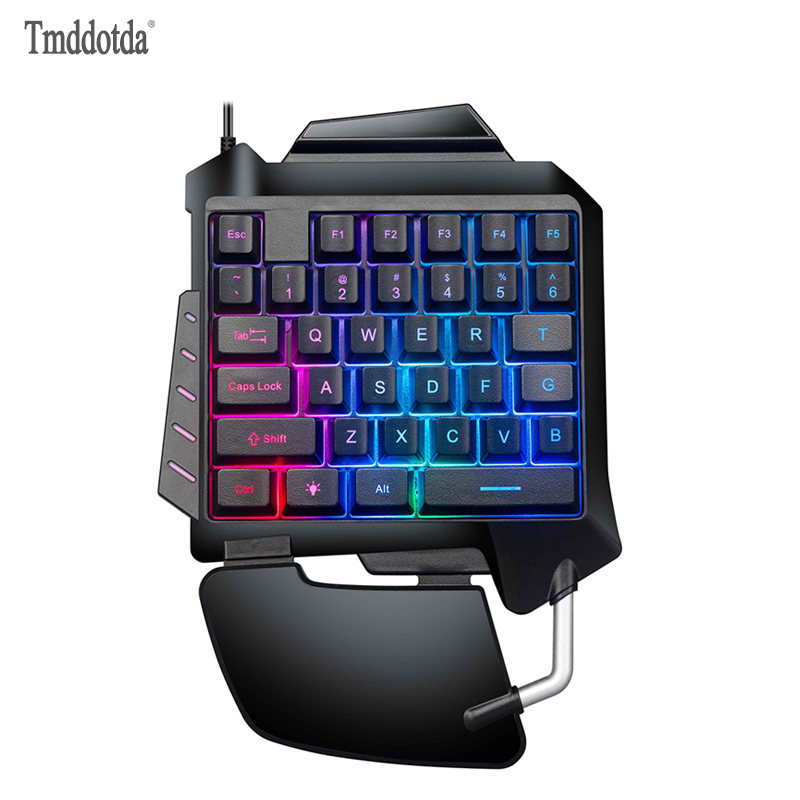 Wired Mechanical Keyboard Single Handed Feels Keyboards Playing Games for IBMPC WIN98SE ME 2000 XP VISTA WIN 7 WIN10 System|Keyboards| |  - title=