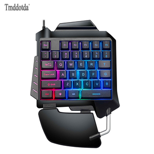 Wired Mechanical Keyboard Single Handed Feels Keyboards Playing Games for IBMPC WIN98SE ME 2000 XP VISTA WIN 7 WIN10 System(China)