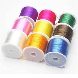 LOULEUR 1 Rolls/lot 10 Colors Elastic Cords Stretch Beading Wire/Cord/String/Thread for DIY Bracelets Jewelry Making Materials