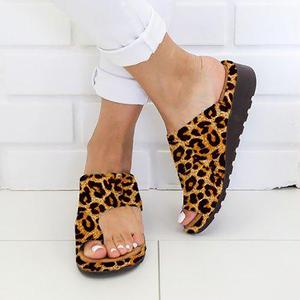 Image 5 - Women PU Leather Shoes Comfy Platform Flat Sole Ladies Casual Soft Big Toe Foot Correction Sandal Shopping Flat Sole Sandal
