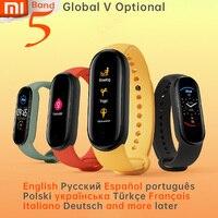 Xiaomi Mi Banda 5 Wristband Lo Stress di Salute Femminili Smart Blacelet Frequenza Cardiaca Sonno Passo Nuotata di Sport Monitor APP Push di Allarme