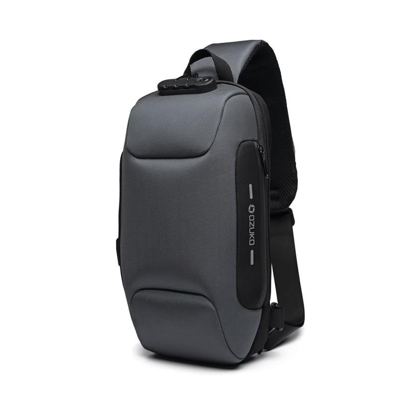OZUKO Anti-theft Chest Bag for Men Multifunction Crossbody Bags Waterproof Male Sling Messenger Bag Short Trip Mens Chest pack 8