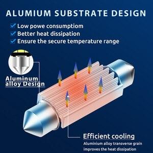 Гирлянда 31 мм, 36 мм, 39 мм, 41 мм, высококачесветодиодный сверхъяркая Светодиодная лампа C5W C10W для освесветильник номерного знака автомобиля, внутренняя Верхняя лампа для чтения