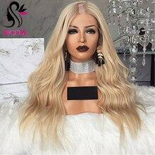 Lekkie włosy ludzkie w kolorze blond peruka długie faliste dziewiczy europejski Remy włosy U część peruki środkowy prawy lewy Upart kolor #613 naturalne fale