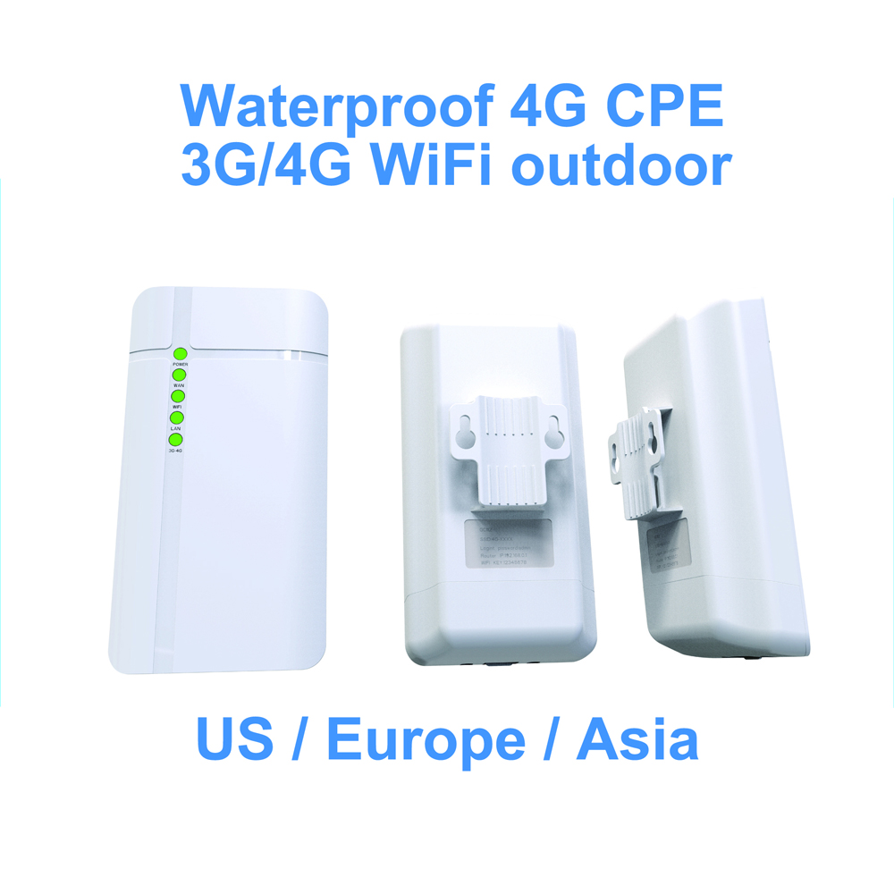 GC112 Outdoor Waterproof 4G Cpe Router CAT4 LTE WiFi Router 3G/4G SIM Card For IP Camera Outside WiFi Coverage