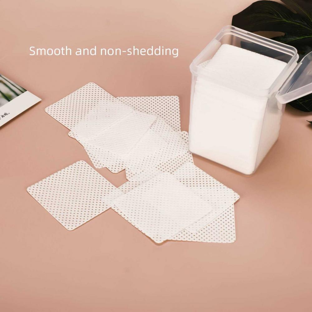 200Pcs/Box Cleaning Eraser Smooth Adhesive Remover Cotton False Eyelash Cleaner Paper Pad for Women