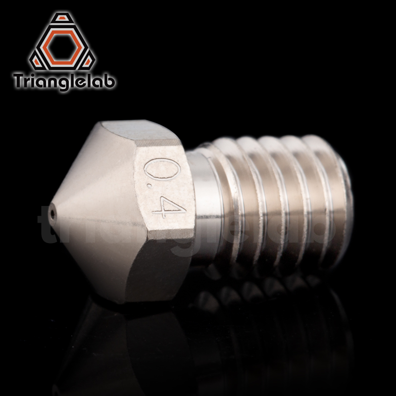 cheapest trianglelab T-V6 Plated Copper Nozzle Durable non-stick high performance for 3D printers hotend  M6 Thread  for E3D V6 hotend
