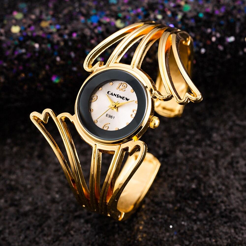 Women Dress Watches Fashion Luxury Special Wing Shape Ladies Rose Gold Bangle Bracelet Watch Elegant Simple Quartz Clock Relogio