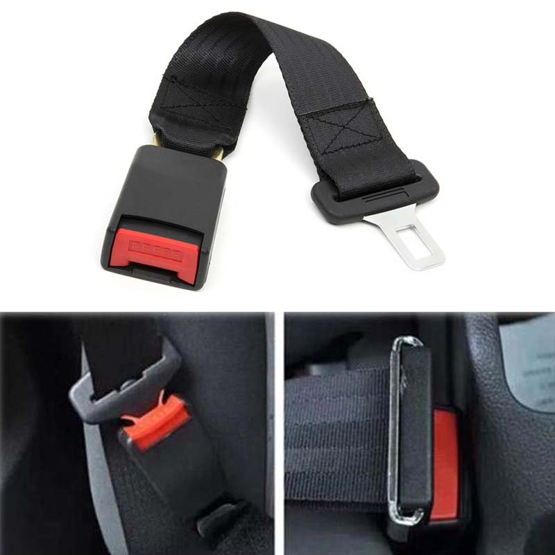 KWOKKER 14 Longer 36cm 14 Universal Car Auto Seat Seatbelt Safety Belt Extender Extension Buckle Seat Belts & Padding Extender