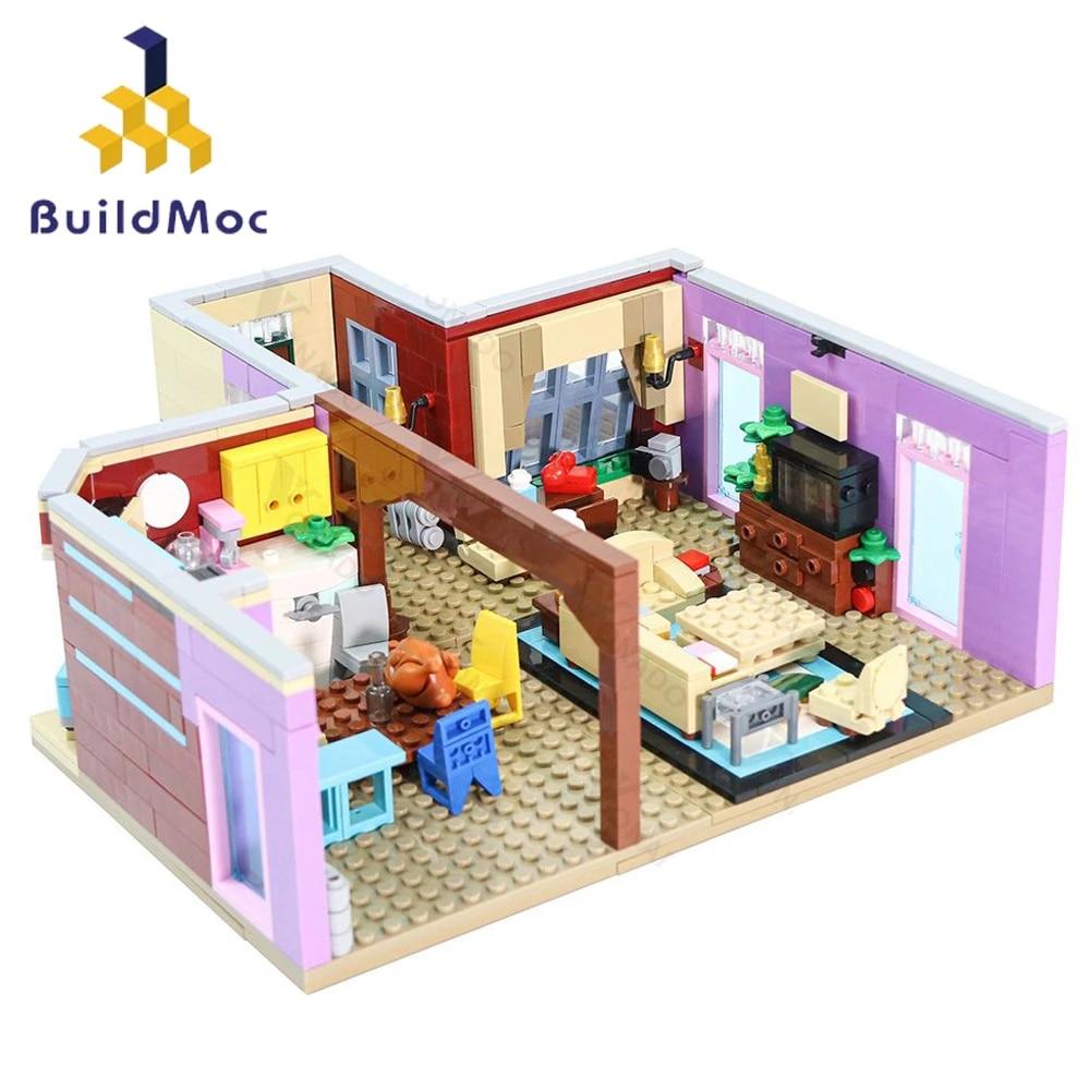 Buildmoc Classic Tv Series Friends Monica S Apartment House Bedroom Kitchen Model For Girl City Building Blocks Educational Toys Blocks Aliexpress