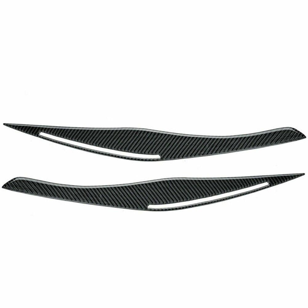 2 Pcs Headlights Eyebrow Eyelids ABS Chrome Trim Cover For BMW E90/E91 328i 335i 2006-2011
