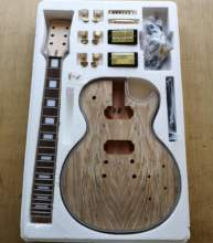 DIY LP Style Electric Guitar Spalted Maple VENEER+ African Mahogany Okoume Body Neck Rosewood Fingerboard Set Guitars In Stock(China)