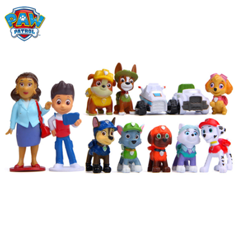 Paw Patrol Toys Model Anime Figure Action Figures DIY Creative Dolls Puppy Dog Patroling Canine Birthday Toys Sets For Children