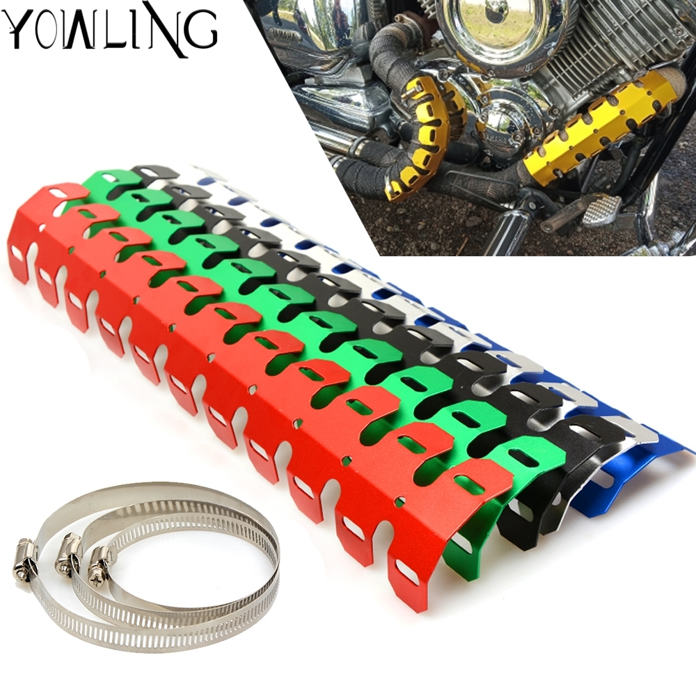 Motorcycle Exhaust Muffler Pipe Heat Shield Cover Guard Protector Motorbike