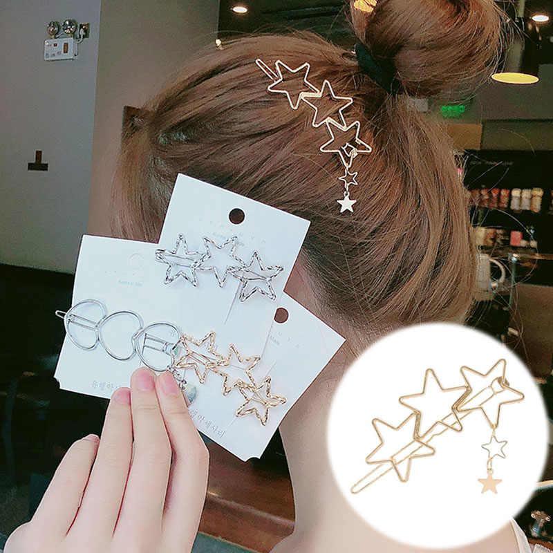 Wanita Wanita Anak Jepit Rambut Hiasan Kepala Hairwear Fashion Golden Silver Modern Kucing Bintang Starfish Pesta Pantai