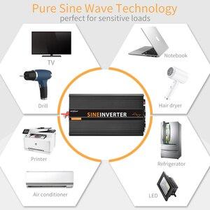 Image 3 - Lcd Inverter 12V 220V 1500W/3000W Pure Sinus Omvormer Converter Piek 3000W in Multi Bescherming Met Afstandsbediening Lcd scherm