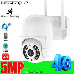 4G сим-карта IP Камера PTZ 1080P 3MP 5MP HD Беспроводной WI-FI Открытый безопасности купольная камера Камера CCTV P2P Onvif двустороннее аудио iCsee