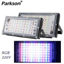 Iluminação ao ar livre led projector spotlight rgb 50w 100 ac 220v à prova dfocágua ip65 refletor foco led luzes de inundação projetor