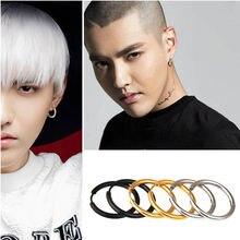 Черный/золотой/серебристый оттенок серьги кольца из нержавеющей