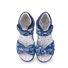Новинка 1 пара, модные сандалии из натуральной кожи для девочек, ортопедическая жесткая обувь с задней частью, милые дети/дети, мягкая обувь
