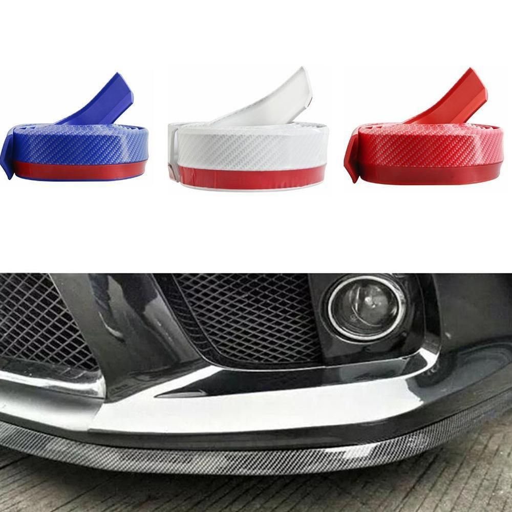 2.5M Universal Front Bumper Lip Splitter Body Spoiler Rubber Carbon Fit Toyota
